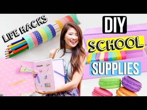 DIY Life Hacks for Back to School Supplies + Organization!