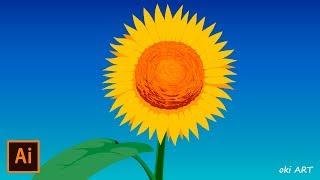 [Synchronized Drawing] Sunflower / ひまわり | Illustrator