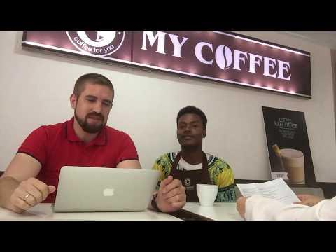 Traning barista in Lagos, Nigeria, coffee house MY COFFEE, 2
