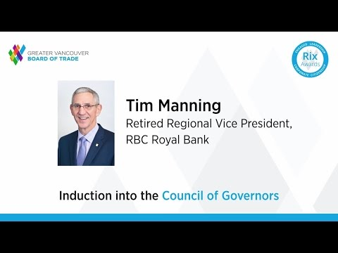 Greater Vancouver Board of Trade honours Tim Manning