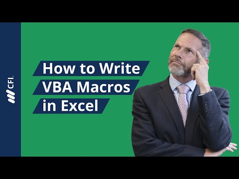 Financial Modeling with Macros and VBA - Tutorial