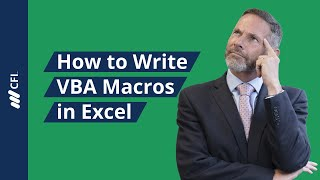 How to Write Macros in Excel  - VBA Tutorial | Corporate Finance Institute