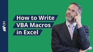 How to Write Macros in Excel  - VBA Tutorial | Corporate Finance Institute