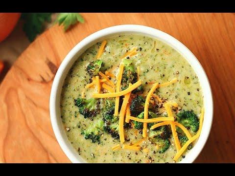 Broccoli Soup Recipe - Homemade Broccoli Cheese Soup - Easy Recipes - Cooking Show -healthy Recipe