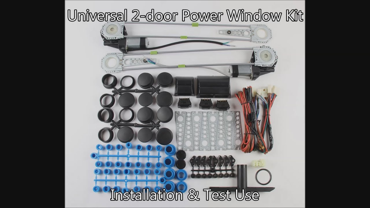 80\u20ac Ebay Universal 2 door Power Window Kit Installation \u0026 Use - YouTube