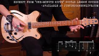 """ONE-MINUTE RIFF"" Guitar Lesson - Catfish Blues - Riff 4 of 30"