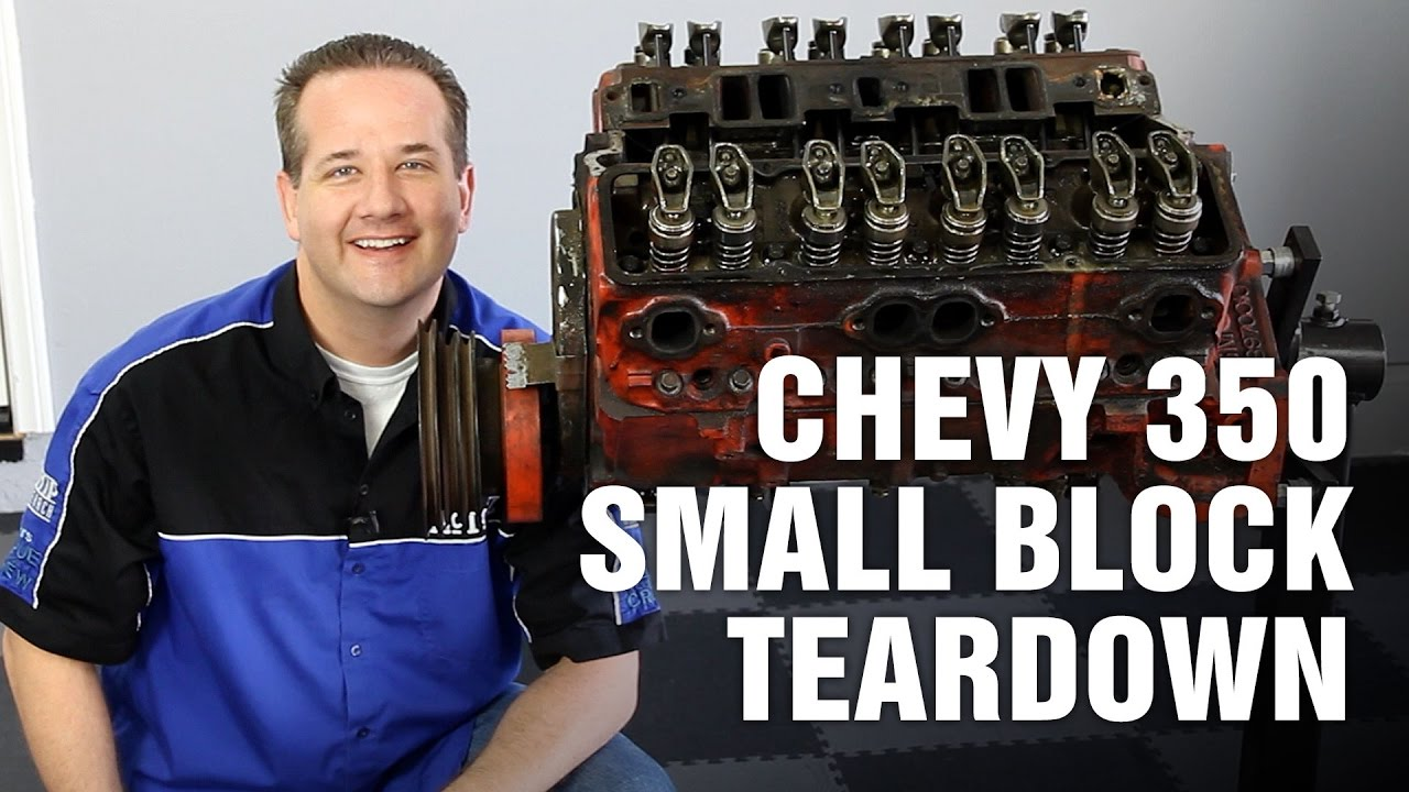 hight resolution of how to tear down chevy 350 small block engine motorz 63
