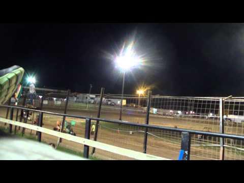 Aaron Jesina, Jesina Racing, Feature Race Sweet Springs MO part 1 Aug 15 2015