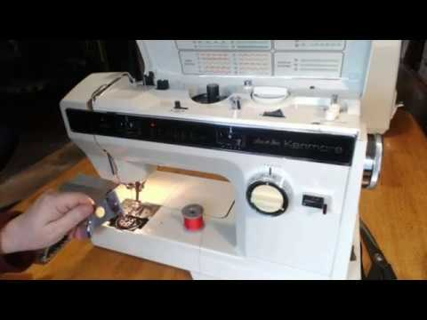 Sears Best Kenmore Convertible 19800 Vintage Sewing Machine Demo Video