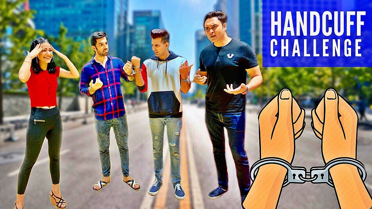 HANDCUFFED for 24 Hours Challenge | Rimorav Vlogs - YouTube