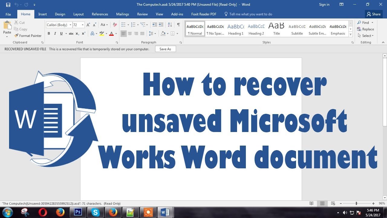 recover word document