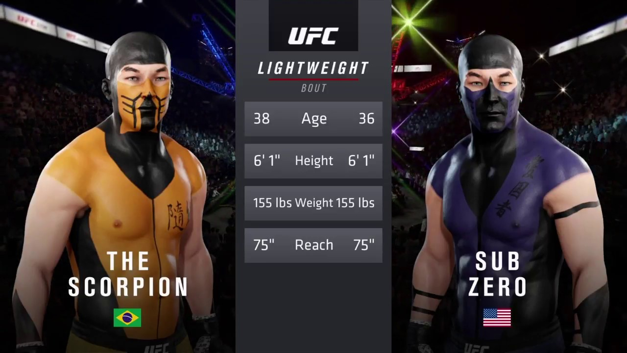Scorpion Vs Sub Zero Ea Sports Ufc 3 Cpu Vs Cpu Crazy Ufc Youtube