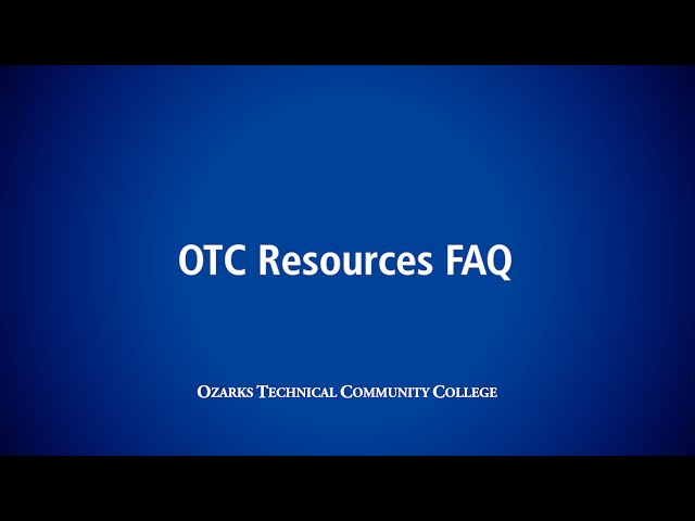 OTC Resources FAQ