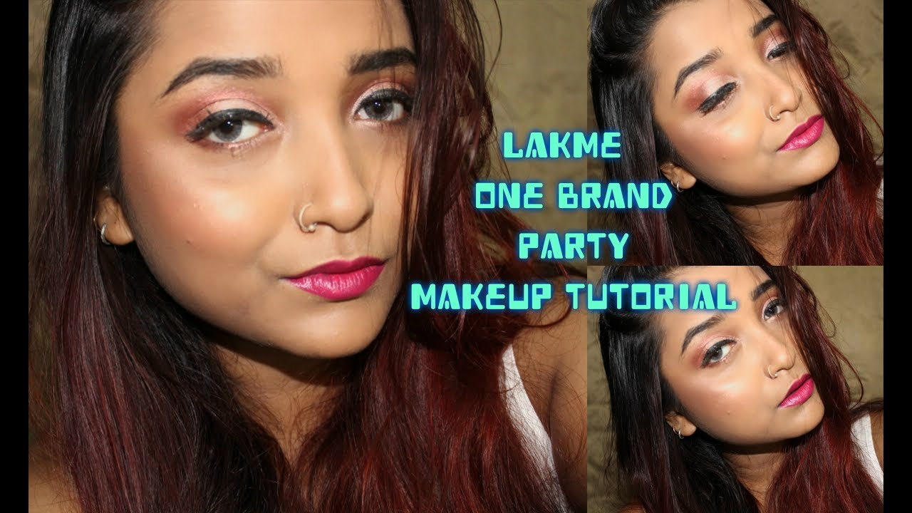 Lakme | One Brand Party Makeup Tutorial #2| Date Night Makeup Using Affordable Indian Drugstore ...
