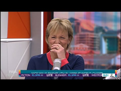 Newsreader Hilary Barry Can't Stop Laughing