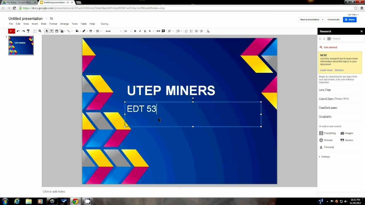 creating a google docs powerpoint youtube