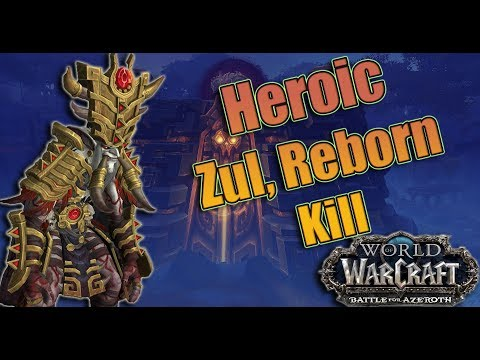 Battle for Azeroth - Heroic Uldir Zul, Reborn Kill! Affliction Warlock POV!
