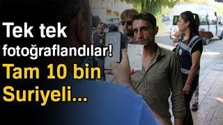 Adana'da Suriyeliler Tek Tek Fotoğraflanarak Kayıt Altına Alındı