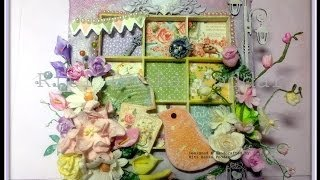 A Mixed Media Shadow Box nested in a Canvas - from start to finish !