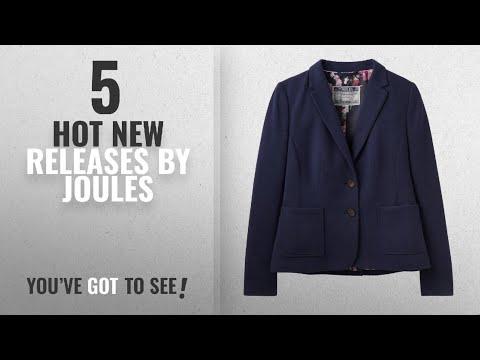 Hot New Joules Women Clothing [2018]: Joules Ellice Jersey Two Button Blazer (Y) French Navy UK12