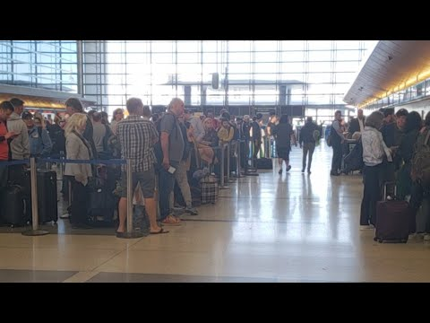 LAX airport police called in canceled flight lufthansa at lax
