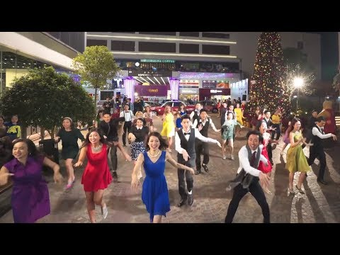 "Another Day of Sun from ""La La Land"" flash mob at 1563 at the East in Hong Kong"