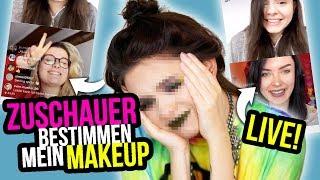 Zuschauer bestimmen mein Makeup LIVE! 😱