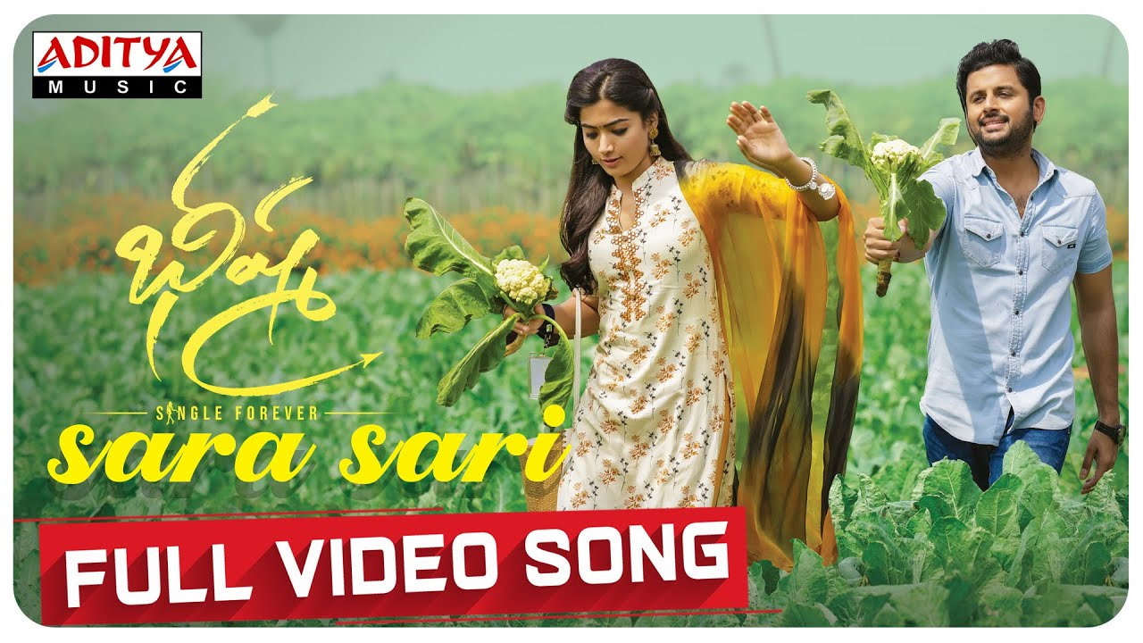 Sara Sari Full Video Song Bheeshma Video Songs Nithiin Rashmika Mahati Swara Sagar Youtube