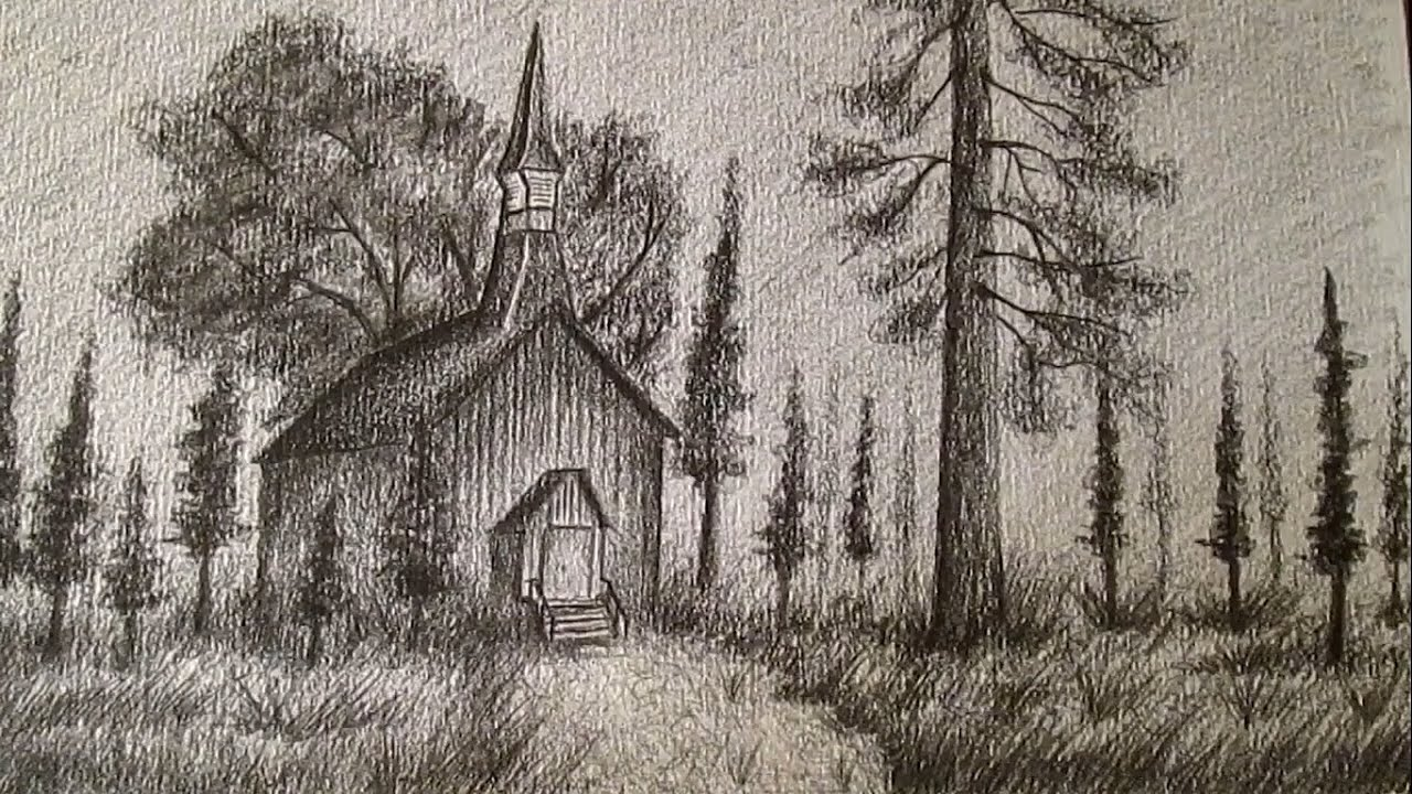 Cmo dibujar un paisaje REALISTA a lpiz como dibujar paisajes