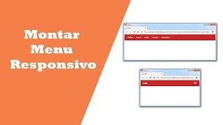 Montar menu responsivo com Bootstrap