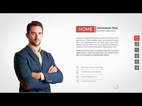 Resume Cv After Effects Template