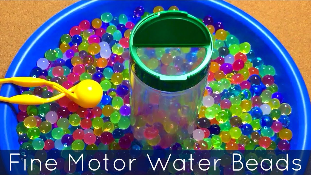 Fine Motor Water Bead Transfer For Toddlers
