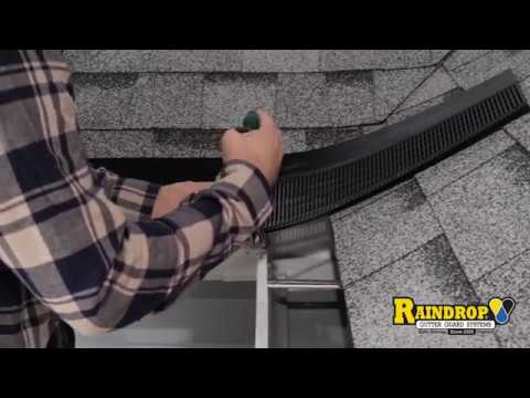 Valley Inside Corner Installation Raindrop Gutter Guard