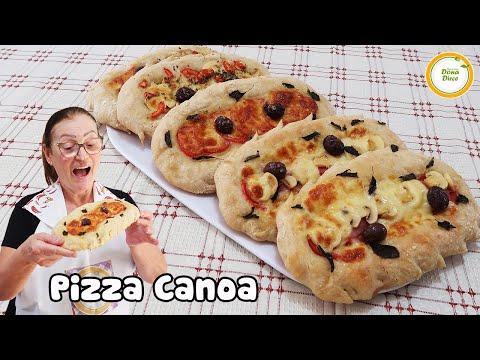 VOCÊ GOSTA DE PIZZA ? | PIZZA CANOA | MASSA DE PIZZA PROFISSIONAL | PIZZA FÁCIL E RÁPIDA #493