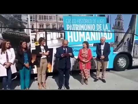 El autobús para apoyar la candidatura de Lugo a Patrimonio de la Humanidad ya es una realidad