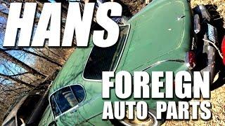 Visit Hans Foreign Auto Parts Junkyard, Elk River, Minnesota
