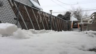 Hobby Engine Track Loader Pushing Snow