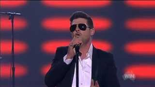 Robin Thicke Blurred Lines live on The Voice Australia