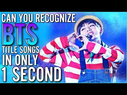 GUESS BTS TITLE SONGS FROM FIRST SECOND