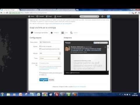Come aggiungere il widget di Twitter a un sito web