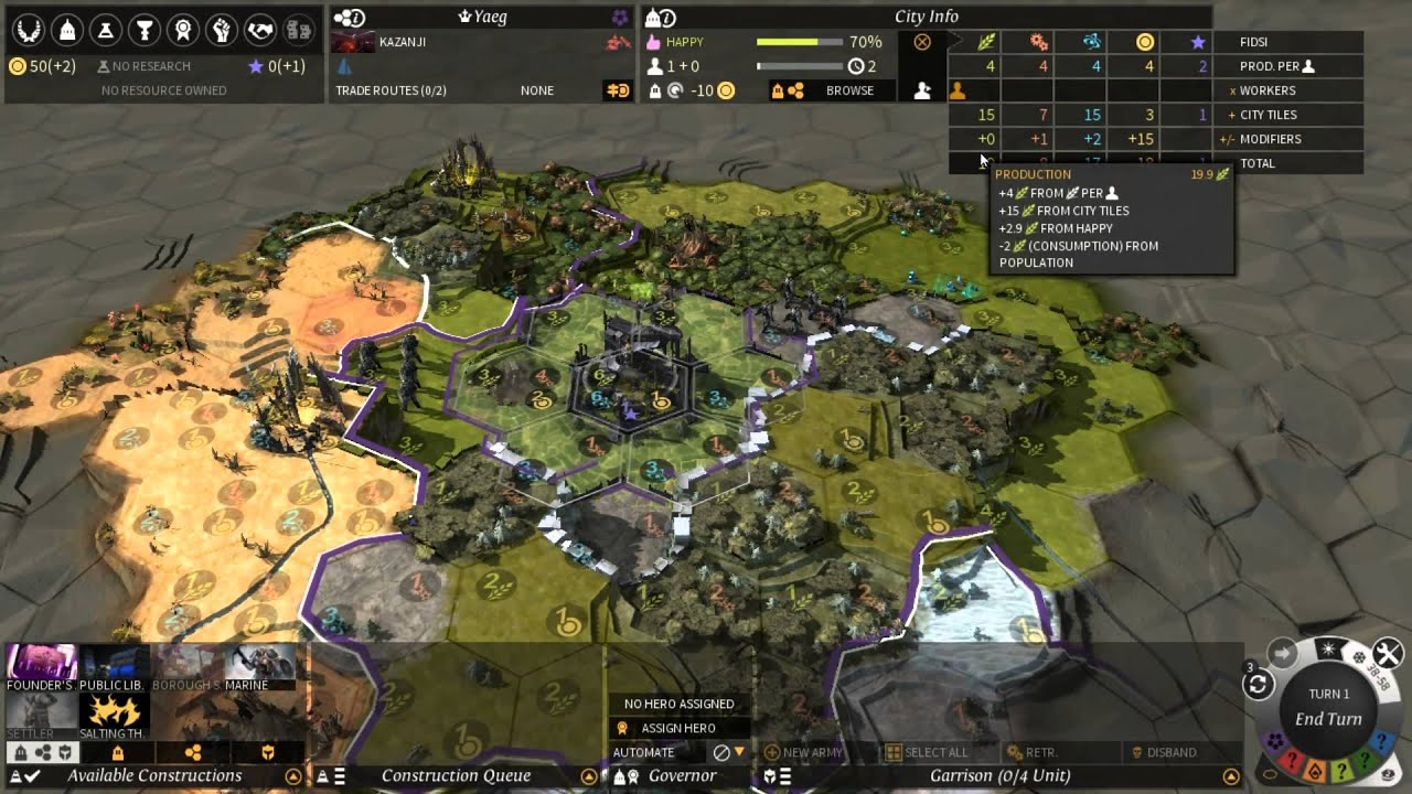 how to get more workers in endless legend