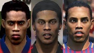 Ronaldinho transformation from FIFA 04 to FIFA 18