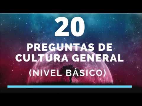 20 Preguntas De Cultura General Nivel Basico Youtube