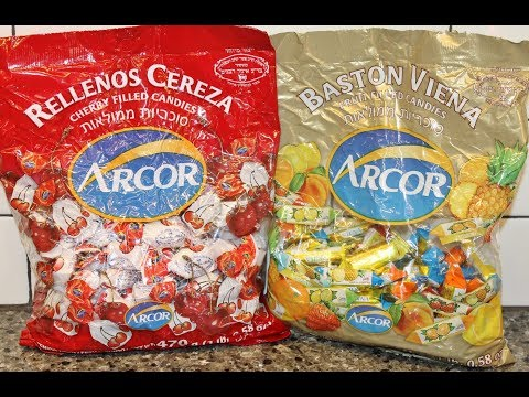 Arcor: Baston Viena Fruit Filled Candies & Rellenos Cereza Cherry Filled Candies Review