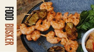 Brazilian Inspired Prawn Skewers | Food Busker