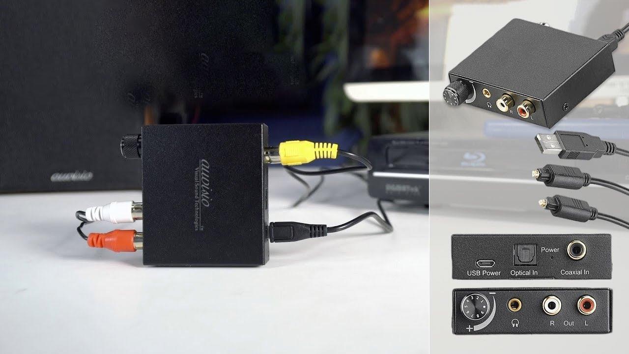 convertisseur audio numerique analogique cinch coaxial. Black Bedroom Furniture Sets. Home Design Ideas