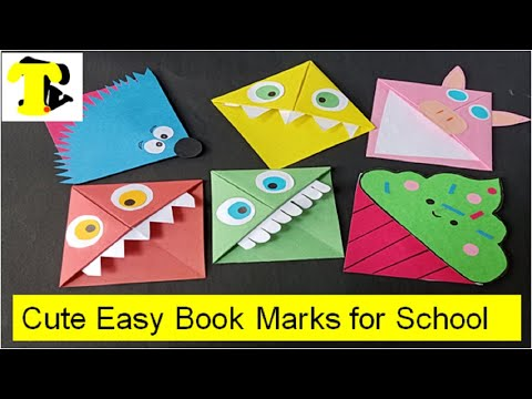 How To Make Cute DIY BookMarks For School