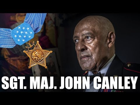 Medal of Honor Recipient Sgt. Maj. John Canley