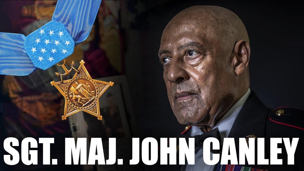 Medal of Honor Recipient Sgt. Maj. John Canley
