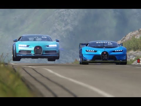 Bugatti Vision GT vs Bugatti Chiron at Highlands